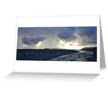 cook river sunrays Greeting Card