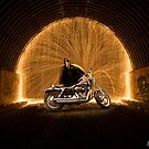 Harley Davidson Softail with steel wool by Kerrod Sulter