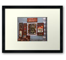 Wooden Toys Shopfront Framed Print