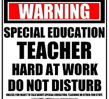 Warning Special Education Teacher Hard At Work Do Not Disturb by cmmei