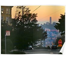Coit Tower Sunrise Poster