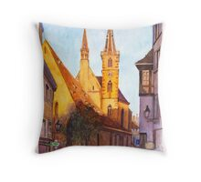 Eglise St Pierre-le-Vieux, Strasbourg, France Throw Pillow