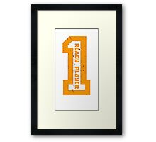 Ready Player One Number Orange Framed Print