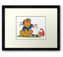Picknick cat Framed Print