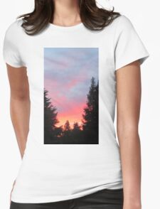 Sunset in the Suburbs  Womens Fitted T-Shirt