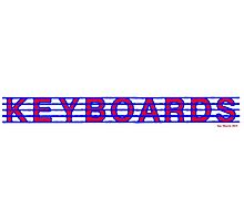 Keyboards Red White & Blue II Photographic Print