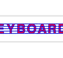 Keyboards Red White & Blue II Sticker
