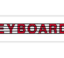Keyboards Red II Sticker