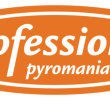 Professional Pyromaniac Sticker