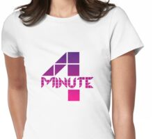 4minute Pink / Purple Gradient Logo Womens Fitted T-Shirt