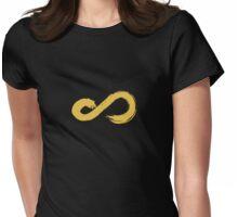Infinite Yellow Logo Womens Fitted T-Shirt