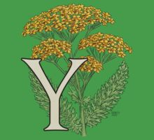 Y is for Yarrow floating Baby Tee