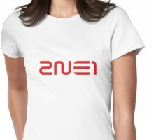 2NE1 Red Logo Womens Fitted T-Shirt