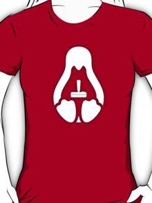 /r/linux_gaming Stycil Tux Shirt (white) T-Shirt