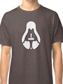 /r/linux_gaming Stycil Tux Shirt (white) Classic T-Shirt