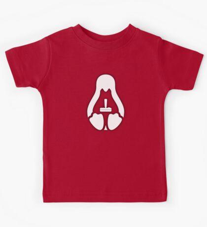 /r/linux_gaming Stycil Tux Shirt (white) Kids Tee