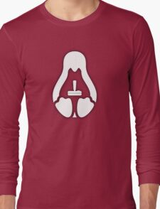 /r/linux_gaming Stycil Tux Shirt (white) Long Sleeve T-Shirt