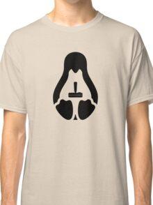/r/linux_gaming Stycil Tux Shirt (black) Classic T-Shirt