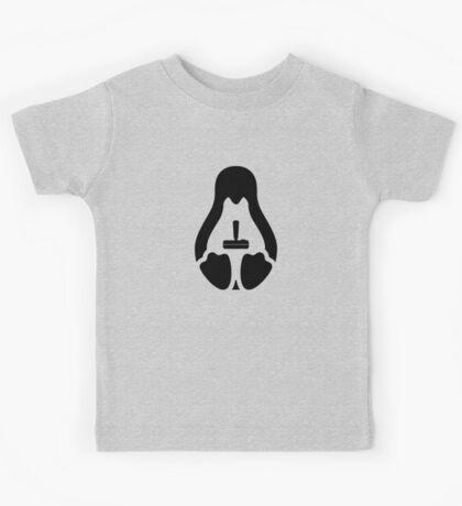 /r/linux_gaming Stycil Tux Shirt (black) Kids Tee