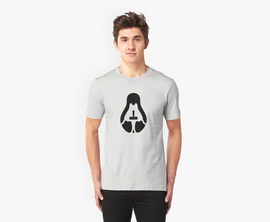 /r/linux_gaming Stycil Tux Shirt (black) by Josh Bush
