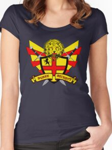 Burke Beckett Coat of Arms Women's Fitted Scoop T-Shirt