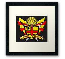 Burke Beckett Coat of Arms Framed Print