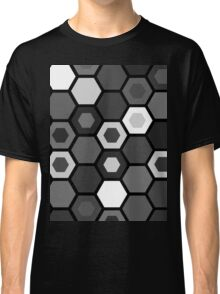 Black and White Hexagons Classic T-Shirt