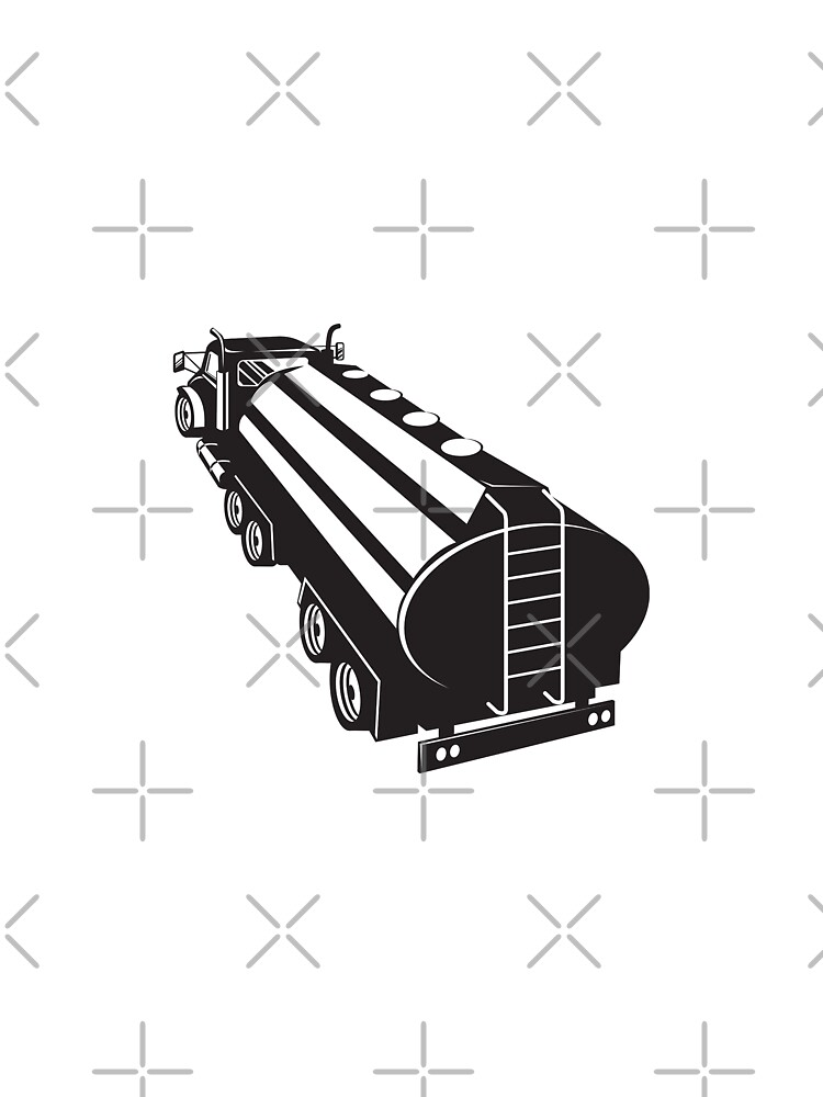 Fuel Tanker Truck Retro by patrimonio
