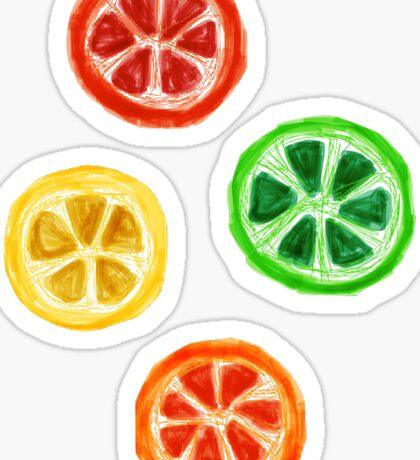 Illustrated Citrus Fruit Sticker Pack Sticker