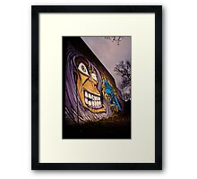 Graffiti Face Framed Print