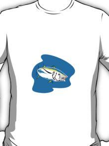 Yellow Fin Tuna Fish Retro T-Shirt