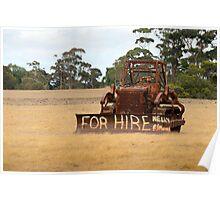 For Hire, Kangaroo Island, South Australia Poster