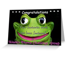 Weekly Theme Challenge Banner Greeting Card