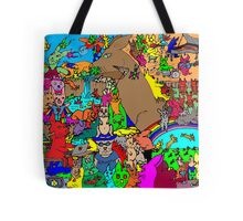 Rabbits on Vacation Tote Bag