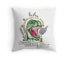 Woman inherits earth.  Throw Pillow