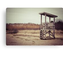 A Desolate Winter Beach Canvas Print