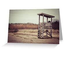 A Desolate Winter Beach Greeting Card