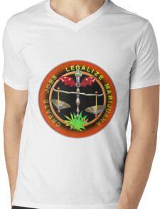 Create Jobs Legalize Marijuana Mens V-Neck T-Shirt