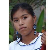 Young And Proud Indian Lady - Jovencita Indigena Orgullosa Photographic Print