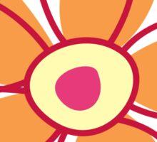 Flowers, Blossoms, Petals - Red Orange Yellow Sticker