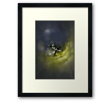 Stranded Space Craft Painting Framed Print