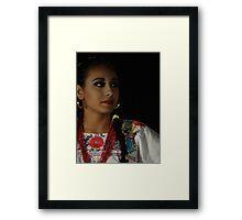 Night Portrait - Retrato En La Noche Framed Print