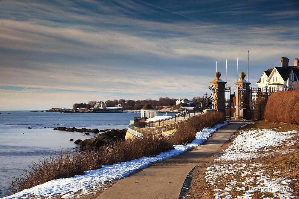 Cliff Walk in Newport Rhode Island by Roupen  Baker