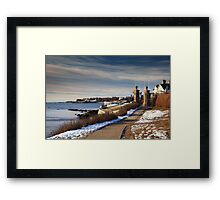 Cliff Walk in Newport Rhode Island Framed Print