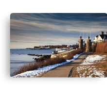 Cliff Walk in Newport Rhode Island Canvas Print