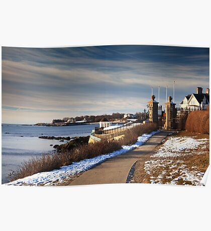 Cliff Walk in Newport Rhode Island Poster