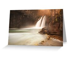 Plitvice waterfall Greeting Card