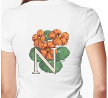N is for Nasturtium - full image Womens Fitted T-Shirt