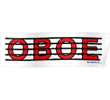 Oboe Red II Poster