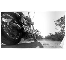 Harley Davidson, the road less traviled. Poster